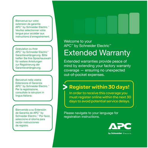 APC 3 Year Warranty Extension 8-10 kVA UPS