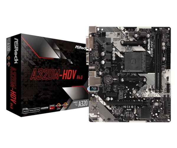 Asrock AMD AM4 Socket A320M chipset (mATX) MB