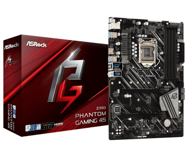 Asrock Intel LGA1151 Z390 PHANTOM GAMING 4S
