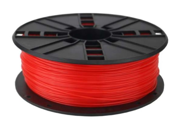 Gembird PLA filament for 3D printer, Fluorescent Red, 1.75 mm, 1 kg