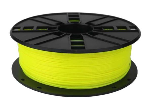 Gembird PLA filament for 3D printer, Fluorescent Yellow, 1.75 mm, 1 kg