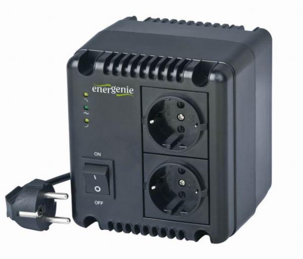 Gembird Automatic AC voltage regulator and stabilizer, LED, 220 V AC, 500 VA