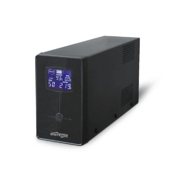 Gembird UPS with LCD display, 650 VA, black