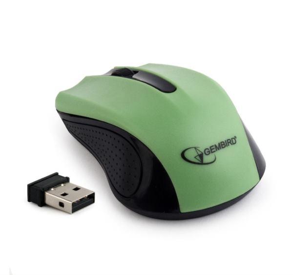 Gembird Wireless optical mouse, green