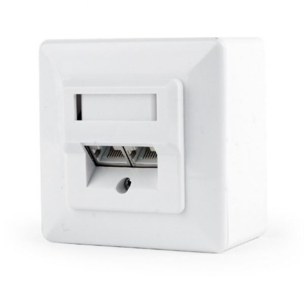 Gembird CAT6 STP 2-port wall mount face plate