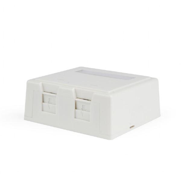 Gembird Two jacks surface mount box