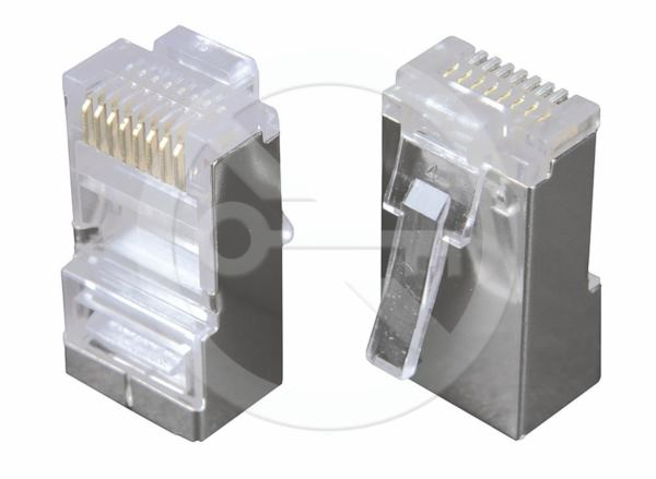 Solarix Conector STP RJ45 Cat6 shielded