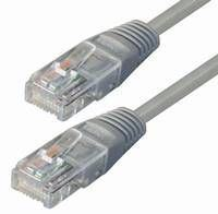 NaviaTec Cat5e UTP Patch Cable 0,25m grey