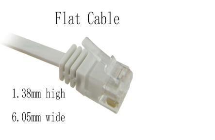 NaviaTec Cat6 patch cable flat, copper 15m