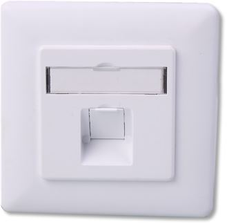 NaviaTec 1 port Wall plate