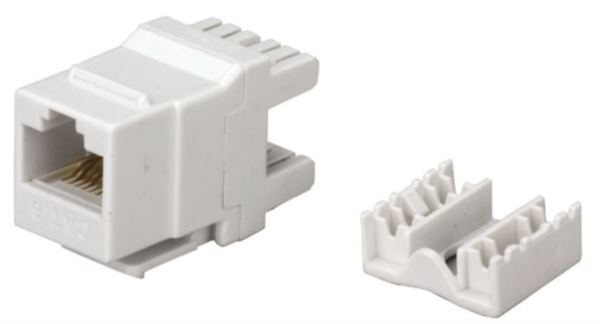 NaviaTec Cat6 RJ45 keystone jack 180 degree type
