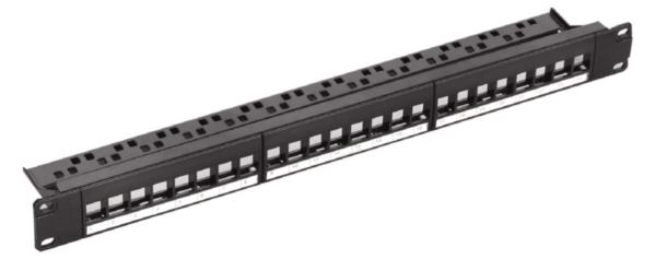NaviaTec Cat6 blank patch panel for 24 keystones 1U