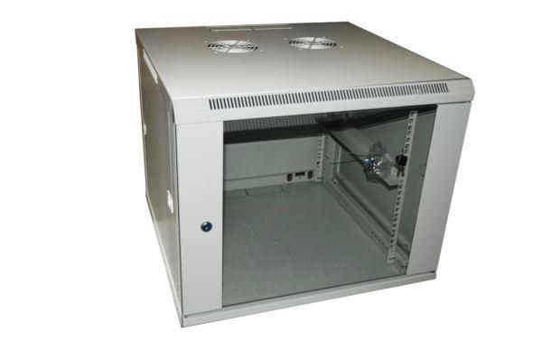 NaviaTec Wall Cabinet 600x600 9U Single Section