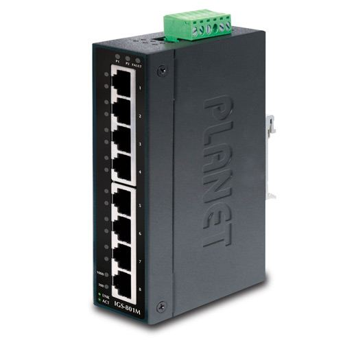 Planet Industrial 8-Port Gigabit Managed Industrial Ethernet Switch