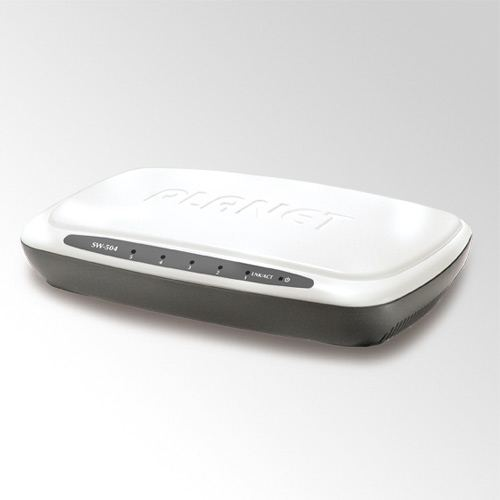 Planet 5-Port 10 100Base-TX Ethernet Switch, Plastic