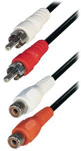 Transmedia 2x RCA-plug - 2x RCA-jack, 1,5 m