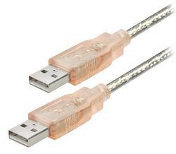 Transmedia USB type A plug to USB type A plug, transparent, 1,2 m