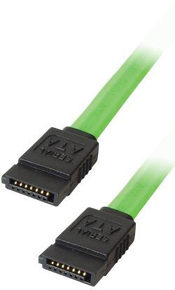 Transmedia SATA 150 jack to SATA 150 jack 0,5m Fluorescent Green