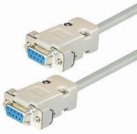 Transmedia Null Modem Cable Sub D-jack 9 pin, 2m