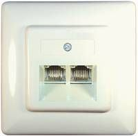Transmedia 2 flush mounting sockets Western 8 8